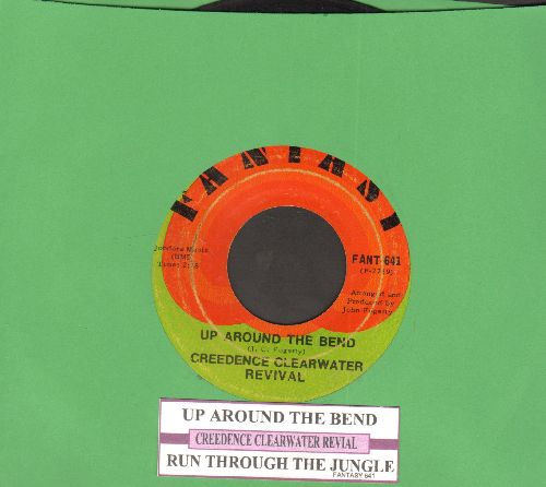 Creedence Clearwater Revival - Ujp Around The Bend/Run Through The Jungle (with juke box label) - EX8/ - 45 rpm Records