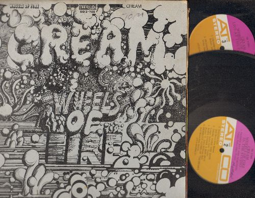 Cream - Wheels On Fire: Those Were The Days, Warthog, Toad, Born Under A Bad Sun (2 vinyl STEREO LP records, gate-fold cover) - VG7/EX8 - LP Records