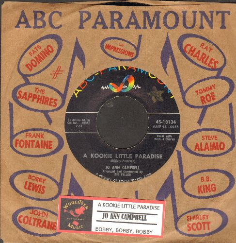 Campbell, Jo Ann - A Kookie Little Paradise/Bobby, Bobby, Bobby (MINT condition with ABC-Paramount company sleeve and juke box label) - M10/ - 45 rpm Records