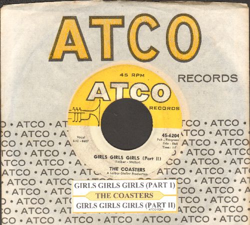 Coasters - Girls, Girls, Girls (Parts 1 + 2) (with juke box label and Atco company sleeve) - EX8/ - 45 rpm Records