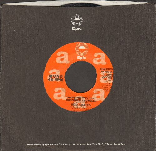 Coates, Odia - That's The Way That The Cookie Crumbles (RARE double-A-sided DJ advance pressing with MONO and STEREO version, with Epic company sleeve) - NM9/ - 45 rpm Records