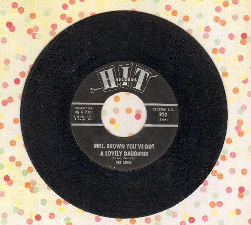 Cords - Mrs. Brown You've Got A Lovely Daughter/Where Were You (contemporary cover versions) - VG7/ - 45 rpm Records