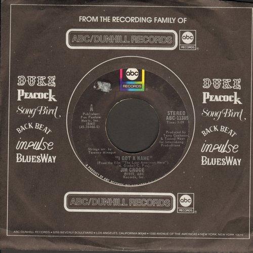 Croce, Jim - I Got A Name/Alabama Rain (with ABC company sleeve) - EX8/ - 45 rpm Records