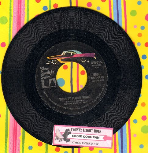 Cochran, Eddie - Twenty Flight Rock/C'Mon Everybody (with juke box label) - NM9/ - 45 rpm Records