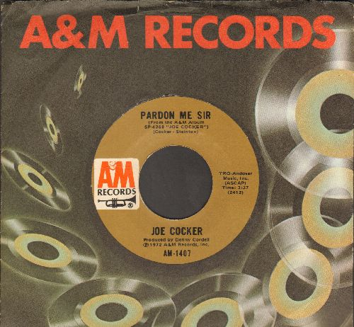 Cocker, Joe - Pardon Me Sir/St. James Infirmary Blues (with A&M company sleeve) - NM9/ - 45 rpm Records