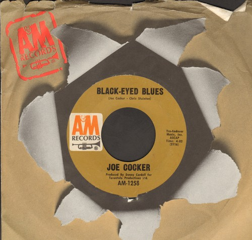 Cocker, Joe - Black Eyed Blues/High Time We Went (with vintage A&M company sleeve) - NM9/ - 45 rpm Records
