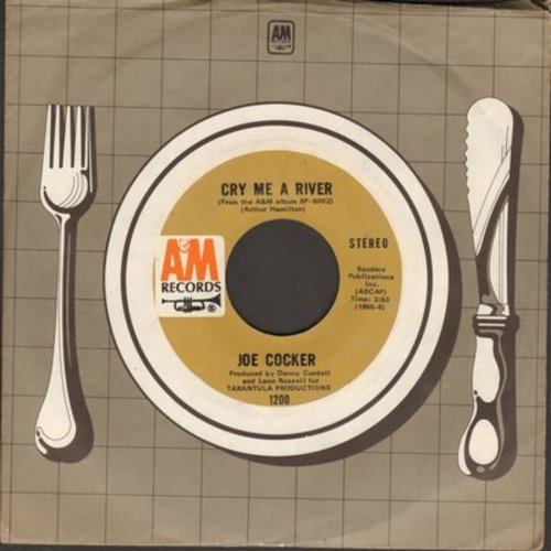 Cocker, Joe - Cry Me A River/Give Peace A Chance - EX8/ - 45 rpm Records