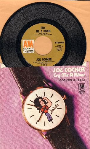 Cocker, Joe - Cry Me A River/Give Peace A Chance (with picture sleeve) - NM9/VG7 - 45 rpm Records