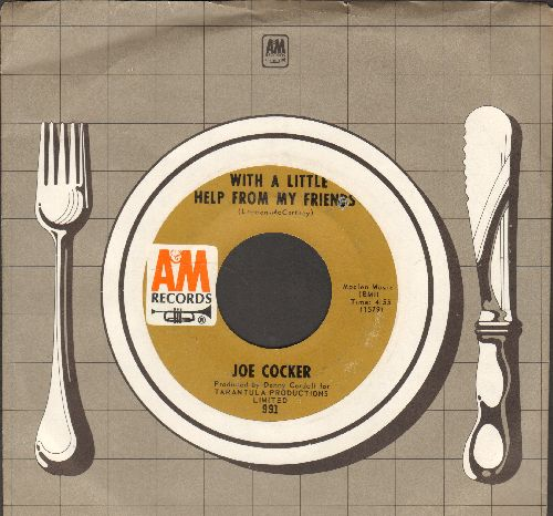 Cocker, Joe - With A Little Help From My Friends/Something's Coming On (with A&M company sleeve) - EX8/ - 45 rpm Records