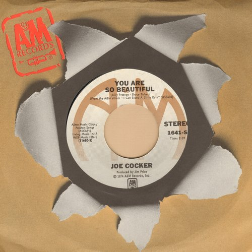 Cocker, Joe - You Are So Beautiful/It's A Sin When You Love Somebody (with A&M company sleeve)(minor wol) - VG7/ - 45 rpm Records