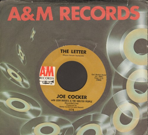 Cocker, Joe - The Letter/Space Captain (with company sleeve) - EX8/ - 45 rpm Records