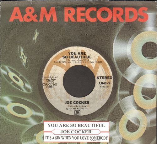 Cocker, Joe - You Are So Beautiful/It's A Sin When You Love Somebody (with juke box label) - VG7/ - 45 rpm Records