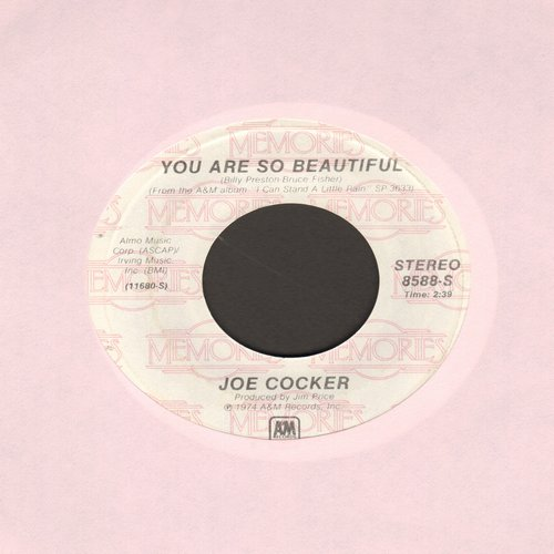 Cocker, Joe - You Are So Beautiful/High Time We Went (double-hit re-issue) - NM9/ - 45 rpm Records