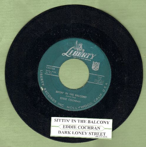 Cochran, Eddie - Sittin' In The Balcony/Dark Lonely Street (with juke box label) - VG7/ - 45 rpm Records