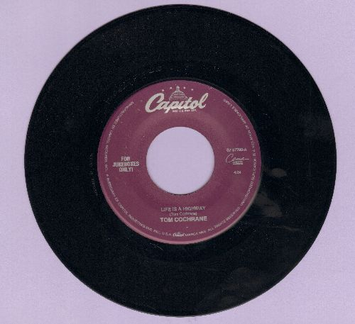 Cochrane, Tom - Life Is A Highway/Emotional Truth - EX8/ - 45 rpm Records