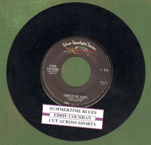 Cochran, Eddie - Summertime Blues/Cut Across Shorty (double-hit re-issue with juke box label) - NM9/ - 45 rpm Records