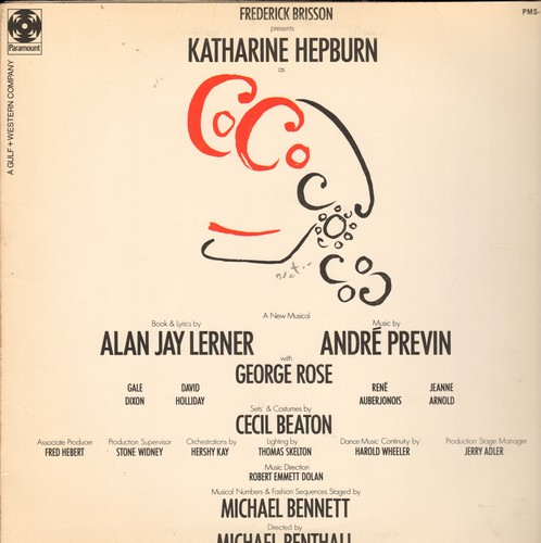 Hepburn, Katherine - Coco - Original Broadway Cast Recording (Vinyl STEREO LP record, gate-fold cover) - EX8/EX8 - LP Records