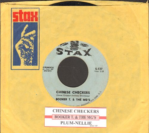 Booker T. & The M.G.'s - Chinese Checkers/Plum - Nellie (with juke box label and vintage Stax company sleeve) - VG7/ - 45 rpm Records