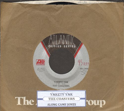Coasters - Yakety Yak/Along Came Jones (double-hit re-issue with juke box label and Atlantic company sleeve) - EX8/ - 45 rpm Records