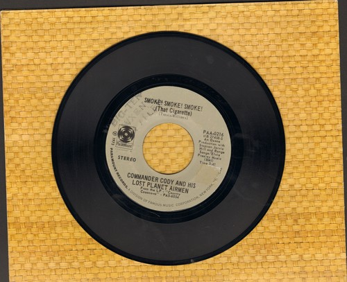 Commander Cody And His Lost Planet Airmen - Smoke! Smoke! Smoke! (That Cigarette)/Rock That Boogie (wol) - NM9/ - 45 rpm Records