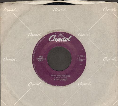 Cocker, Joe - Feels Like Forever (SLOW-DANCE FAVORITE!)/When The Night Comes (with Capitol company sleeve) - NM9/ - 45 rpm Records