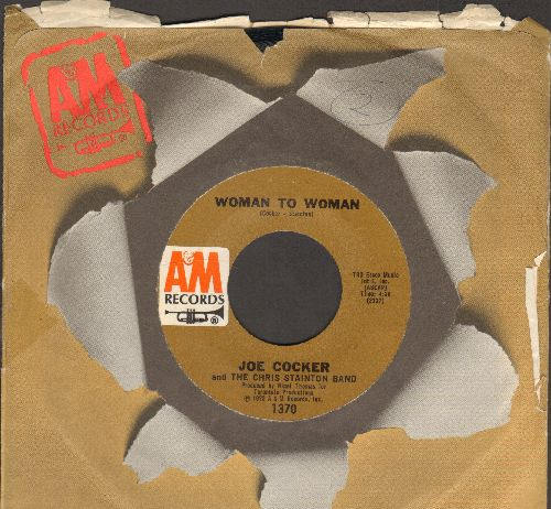 Cocker, Joe - Woman To Woman/Mignight Rider (with A&M company sleeve) - NM9/ - 45 rpm Records