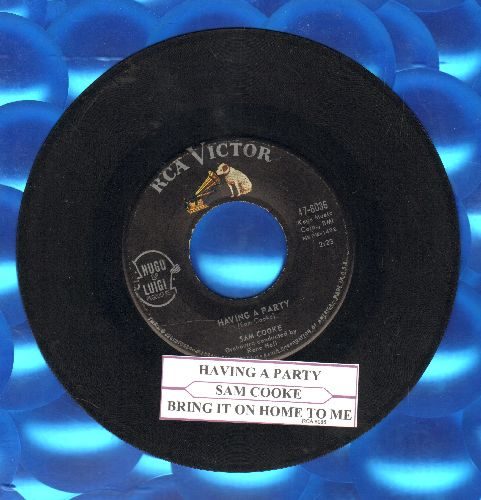 Cooke, Sam - Having A Party/Bring It On Home To Me (with juke box label) - VG7/ - 45 rpm Records