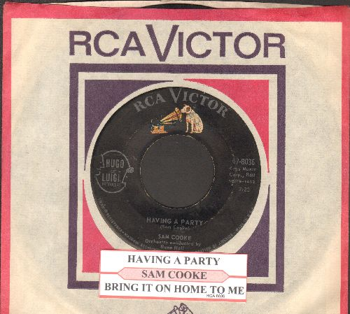 Cooke, Sam - Having A Party/Bring It On Home To Me 9with juke box label and RCA company sleeve) - VG7/ - 45 rpm Records