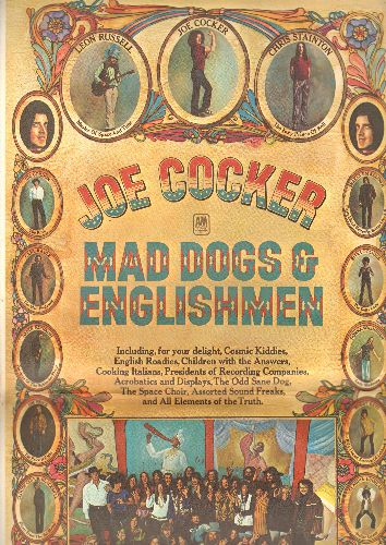 Cocker, Joe - Mad Dogs & Englishmen: Honky Tonk Women, Cry Me A River, Give Peace A Chance, The Letter (2 vinyl STEREO LP records in fold-out poster cover) - NM9/EX8 - LP Records