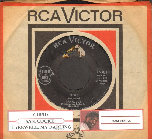 Cooke, Sam - Cupid/Farewell, My Darling (with RCA company sleeve and juke box label) - EX8/ - 45 rpm Records