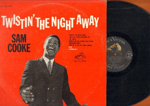 Cooke, Sam - Twistin' The Night Away: The Twist, Camptown Twist, Twistin' In The Kitchen With Dinah (vinyl STEREO LP record) - EX8/VG7 - LP Records