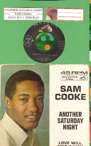 Cooke, Sam - Another Saturday Night/Love Will Find A Way  (with juke box label and picture sleeve) - NM9/EX8 - 45 rpm Records