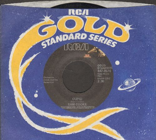 Cooke, Sam - Chain Gang/Cupid (double-hit re-issue with RCA company sleeve) - VG7/ - 45 rpm Records