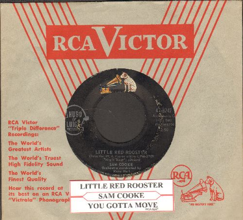 Cooke, Sam - Little Red Rooster/You Gotta Move (with juke box label and vintage RCA company sleeve) - VG7/ - 45 rpm Records