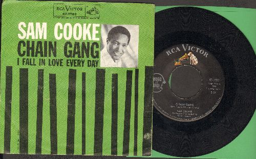 Cooke, Sam - Chain Gang/I Fall In Love Every Day (with picture sleeve and juke box label) - NM9/EX8 - 45 rpm Records