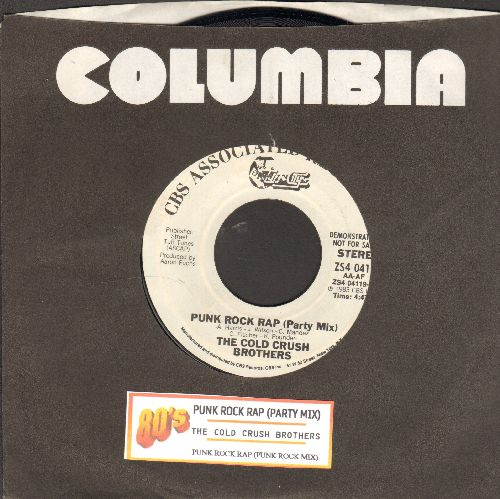 Cold Crush Brothers - Punk Rock Rap (Party Mix)/Punk Rock Rap (Punk Rock Mix) (DJ advance pressing with juke box label and company sleeve) - NM9/ - 45 rpm Records