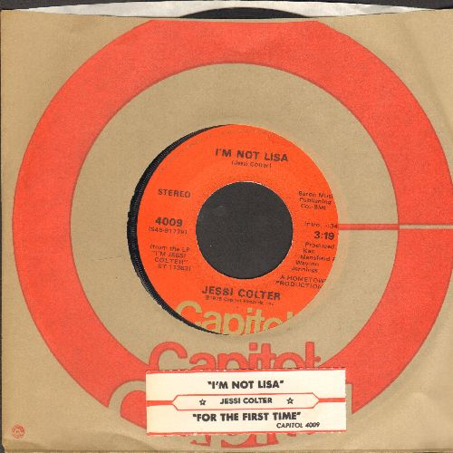 Colter, Jessi - I'm Not Lisa/For The First Time (with Capitol company sleeve and juke box label) - NM9/ - 45 rpm Records