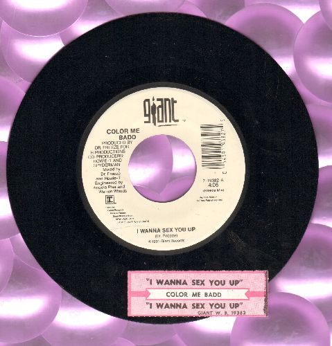 Color Me Badd - I Wanna Sex You Up (Freeze Mix)/I Wanna Sex You Up (Album Version) (with juke box label) - NM9/ - 45 rpm Records