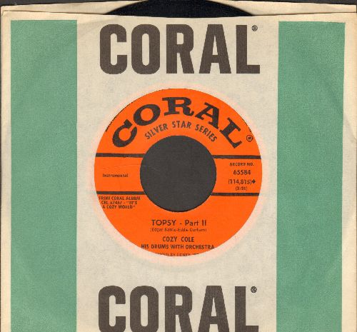 Cole, Cozy - Topsy (Parts 1 & 2)  (authentic-looking early re-issue of Instrumental Jazz Favorite - MINT condition with vintage Coral company sleeve) - M10/ - 45 rpm Records