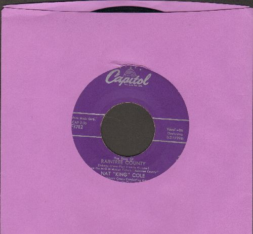Cole, Nat King - The Song Of Raintree County/With You On My Mind - EX8/ - 45 rpm Records