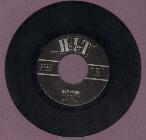 Colson, Betty - Dominique/Since I Fell For You (by Tom Tripp) (cover versions) - NM9/ - 45 rpm Records