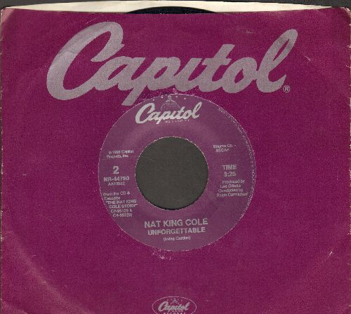 Cole, Nat King - The Christmas Song/Unforgettable (purple label re-issue with Capitol company sleeve) - NM9/ - 45 rpm Records