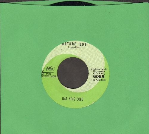 Cole, Nat King - Nature Boy/Sweet Lorraine (green label early double-hit re-issue) - EX8/ - 45 rpm Records
