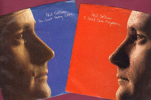 Collins, Phil - Phil Colling Picture Selleves with first issue 45rpm records, 2 for the price of 1! Hitsa include You Cant Hurry Love & I Don't Care Anymore. - NM9/NM9 - 45 rpm Records