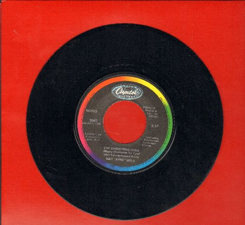 Cole, Nat King - The Christmas Song/The Little Boy That Santa Claus Forgot (rainbow label  re-issue) - NM9/ - 45 rpm Records