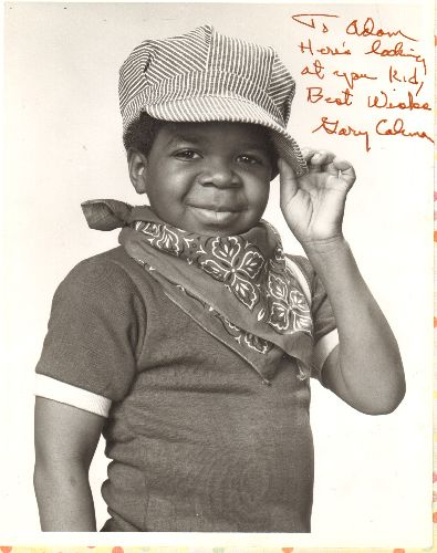 Coleman, Gary - Personalized 8 X 10 Head-Shot Autograph by Gary Coleman of -Different Strokes- Fame: To Adam Here's looking at you, Kid, Best Wishes Gary Coleman.  - NM9/ - Autographs