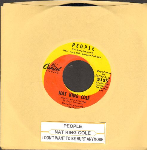 Cole, Nat King - People/I Don't Want To Be Hurt Anymore  - NM9/ - 45 rpm Records