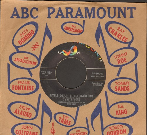 Coe, Jamie - Little Dear, Little Darling/How Low Is Low (with ABC-Paramount company sleeve) - EX8/ - 45 rpm Records