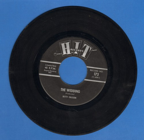 Coleson, Betty - The Wedding/Song Of Love (by William Randolph on flip-side) (contemporary cover versions) - EX8/ - 45 rpm Records