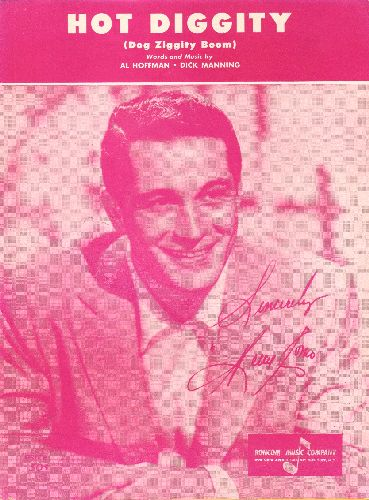 Como, Perry - Hot Diggity - Vintage SHEET MUSIC for the Perry Como Hit - NICE cover portrait of the legendary crooner! - EX8/ - Sheet Music